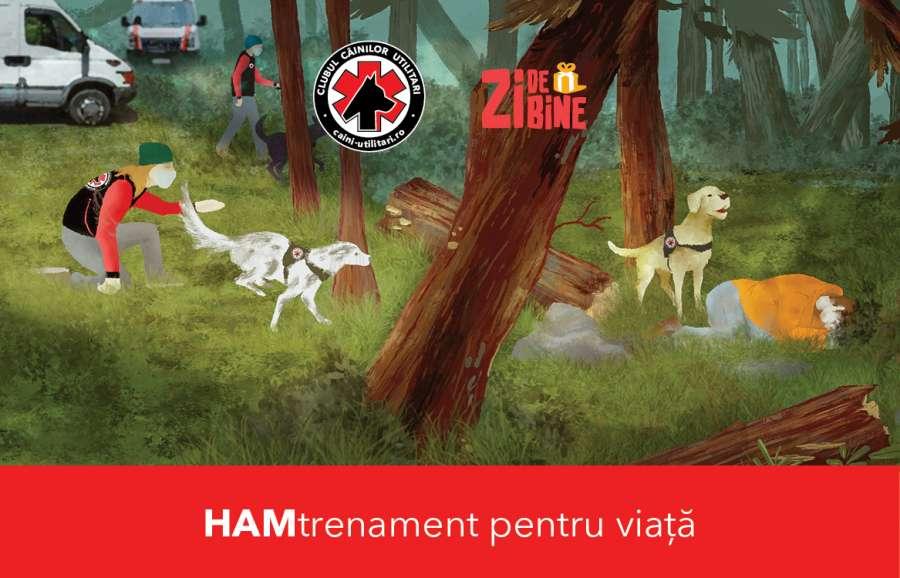 Asociația Zi de Bine amenajează un teren de antrenament pentru câinii salvatori