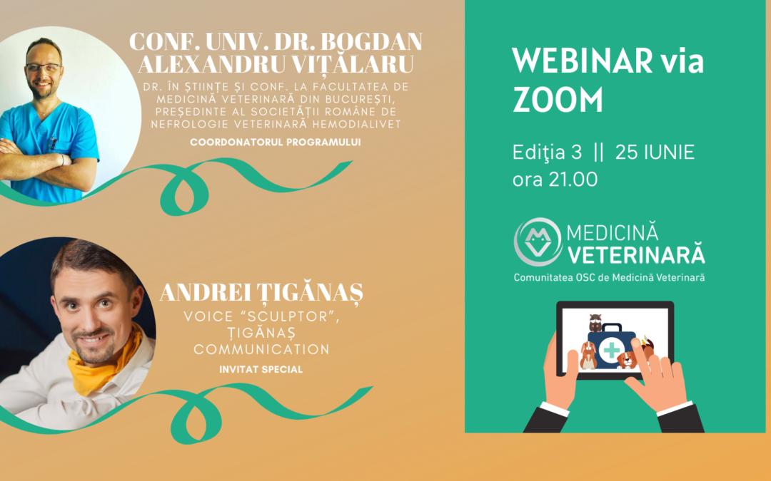 """""""Cum să scrii ușor și cu spor în mediul online ca să-ți promovezi afacerea"""" – tema celei de-a III-a ediții a webinarului MedicinaVeterinara.ro"""