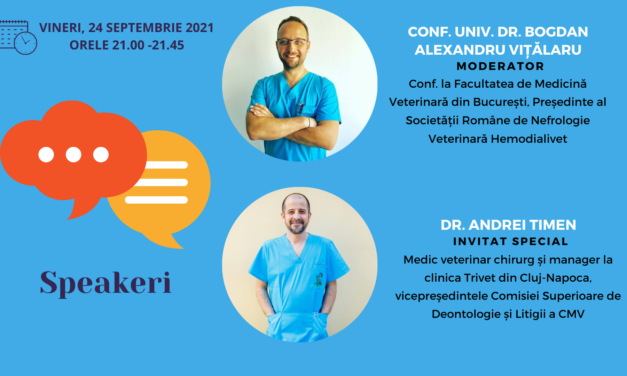 """""""Malpraxisul în medicina veterinară: cum să îl prevenim"""" – Tema întâlnirii Comunității OSC- Medicină veterinară din luna septembrie"""